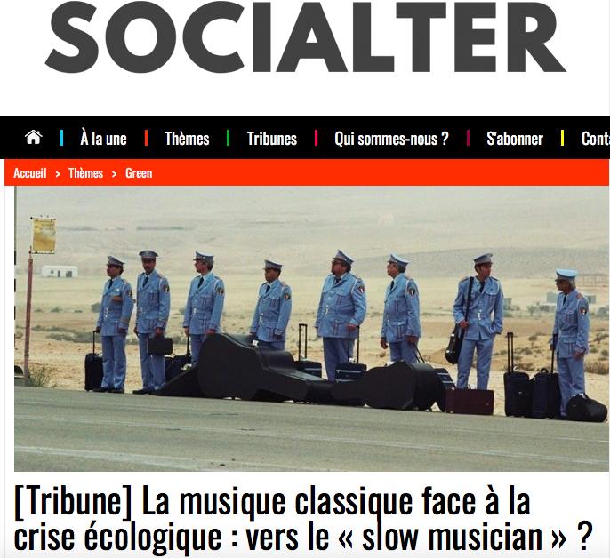 Tribune dans le magazine Socialter