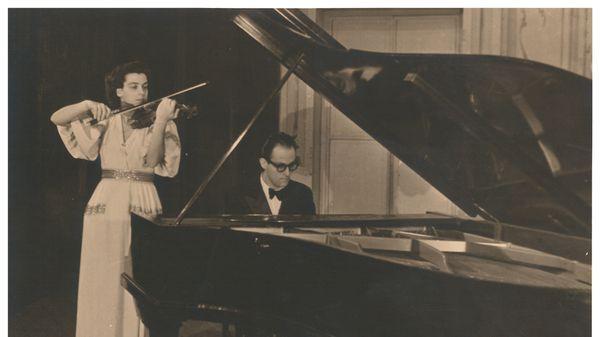 Ginette Neveu et son frère Jean Neveu, © DR