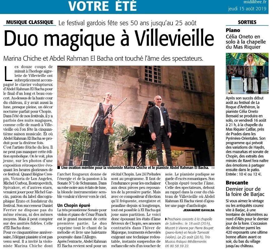 Duo magique à Villevieille