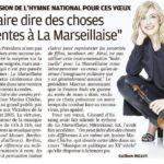 La Provence : Une nouvelle version de l'hymne national pour ces vœux